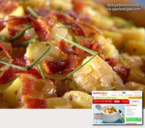 Traditional Warm German Potato Salad