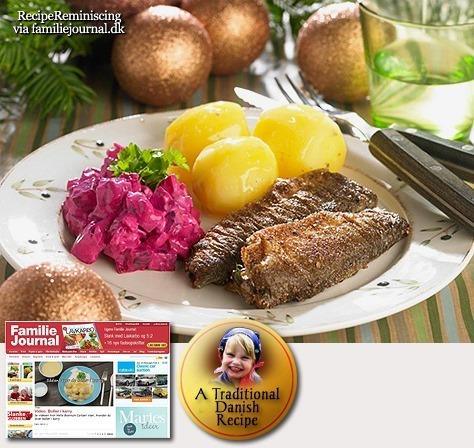 Danish Fried Herring with Beetroot Salad / Stegte Sild med Rødbedesalat