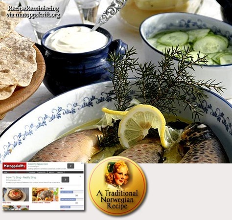 Baked Mountain Trout with Cucumber Salad / Ovnsbakt Fjellørret Med Agurksalat