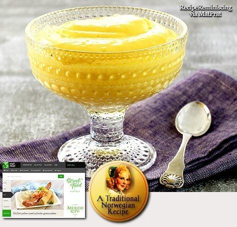 Real Norwegian Egg Cream / Ekte Eggekrem