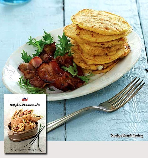 Cottage Cheese and Corn Patties / Cottage cheese– og Maispletter