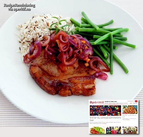 Pork Chops with Red Onion Marmalade / Koteletter med Rødløksmarmelade