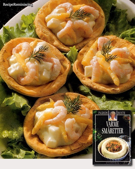 Puff Pastry Shells with Seafood Stew / Butterdeigskjell med Fiskestuing