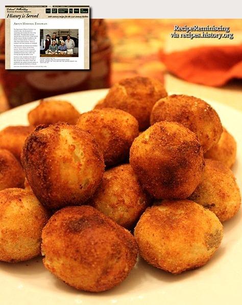 18th Century Potatoe Balls / Potetballer fra det 18ende Århundre