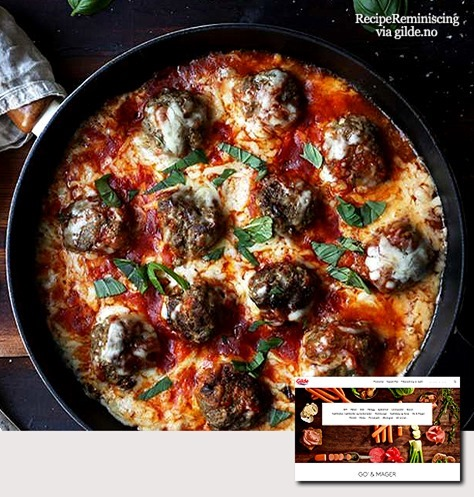 Juicy Skillet Cheese Meatballs