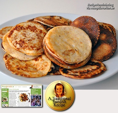Traditional Swedish Griddle Cakes / Plätter