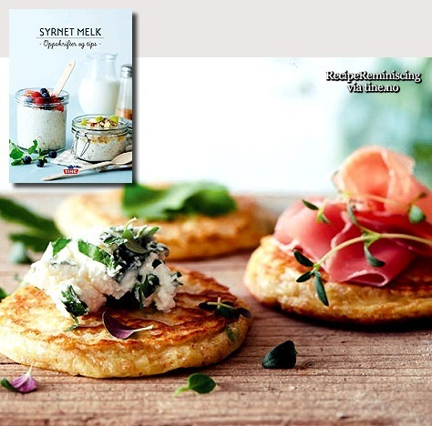 Norwegian Griddle Cakes with Kefir and Herbs / Kefirlapper med Urter