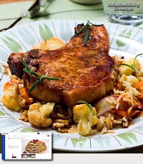 Pork Chops on Fried Rice Salad