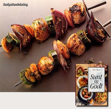 Marinated Scallop Skewers / Marinert kamskjellspyd