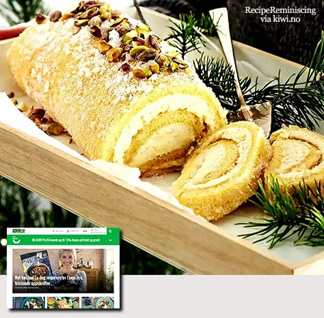 Roll Cake with Almond Filling
