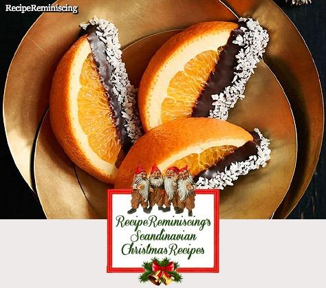 Appelsinbåter Dyppet i Sjokolade