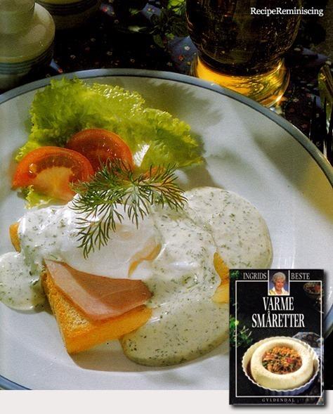 Egg and Ham Sandwich with Green Sauce / Egg og Skinke Smørbrød med Grønn Saus