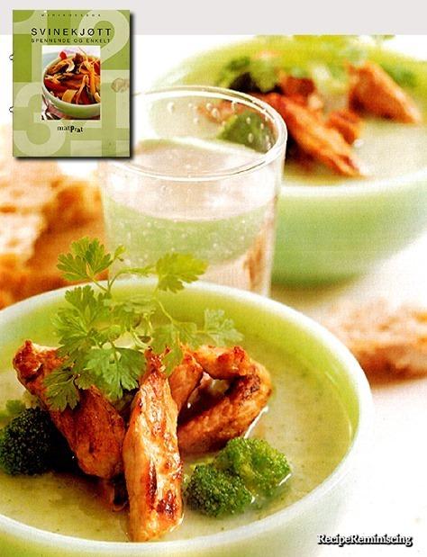 Vegetable Soup with Pork Strips / Grønnsakssuppe med Strimlet Svinekjøtt