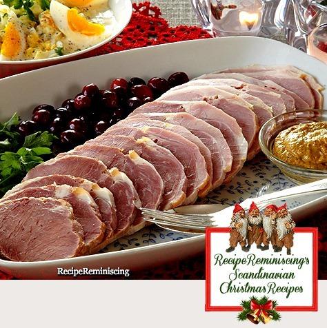 Norwegian Christmas Ham with Egg Salad