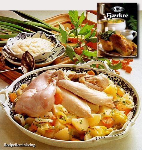 Kokt Høne med Pepperrotkrem