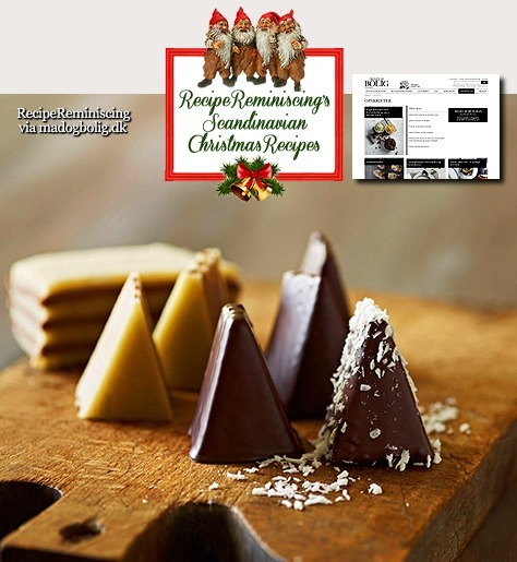 Easy Nougat Marcipan Christmas Trees