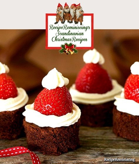 Santa Bubble-Hat Brownies / Nisselue-Brownies
