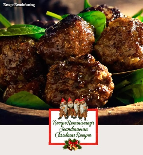 Christmasy Norwegian Meatballs