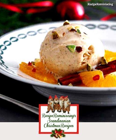 Christmas Ice Cream with Orrange Salad
