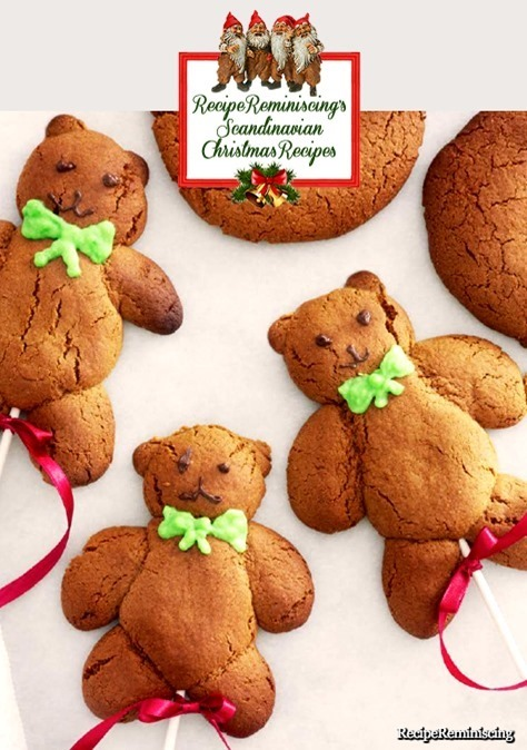 Danish Spicy Teddy Cakes / Krydrede Bamsekager