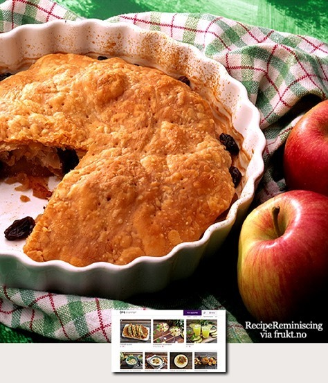 Old-fashioned Norwegian Apple Pie / Gammeldags Eplepai
