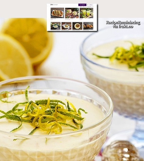 Old-Fashioned Norwegian Lemon Mousse / Gammeldags Sitronfromasj