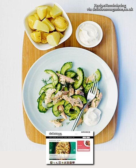 Hot-Smoked Trout with Cucumber and Dill Salad / Varmrøkt Ørret med Agurk- og Dillsalat