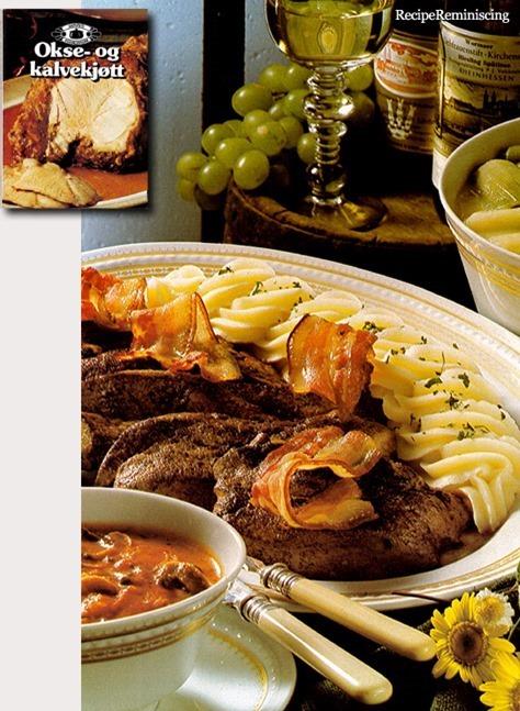 Veal Liver with Mushroom Sauce / Kalvelever med Sjampinjongsaus