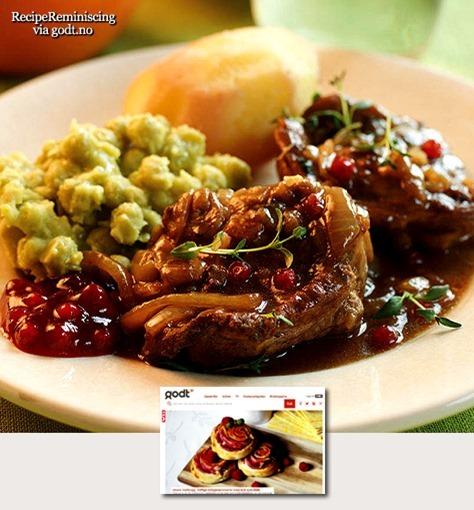 Traditional Norwegian Lamb in Gravy