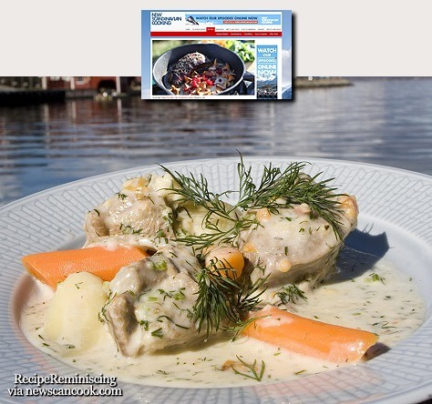 Swedish Lamb Stew in Dill Sauce / Svensk Stuet Lam i Dillsaus