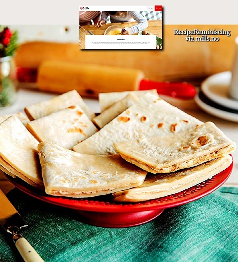 Lefse with Cinnamon Filling