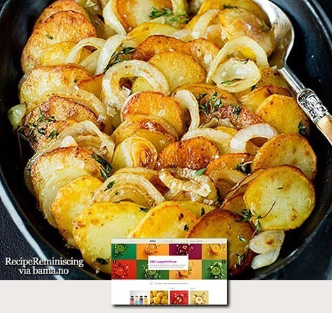 Onion and Thyme Potatoes / Løk- og Timianpoteter