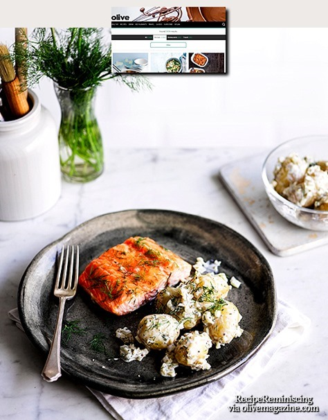 Scandi-Style Salmon with Pickled Potato Salad / Scandi-Style Laks med Skarp Potetsalat