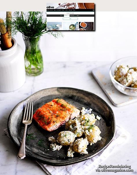 Scandi-Style Salmon with Pickled Potato Salad