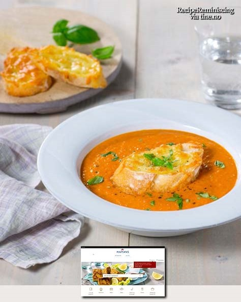 Tomatsuppe med Ostetoast