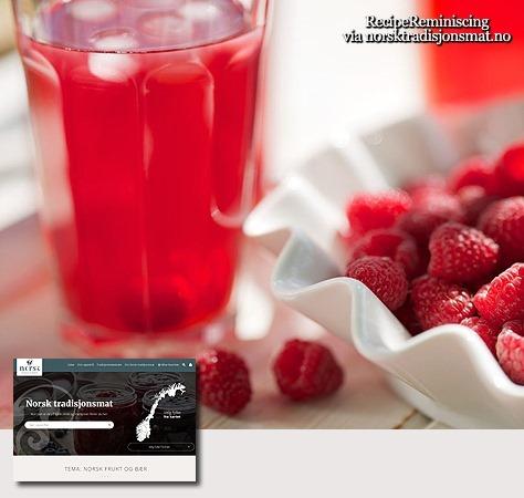 Norwegian Raspberry Cordial