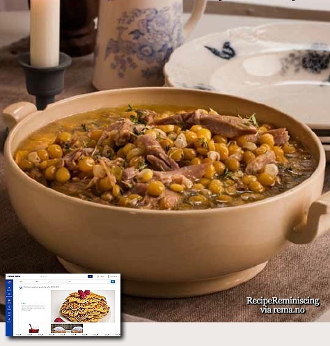 Norwegian Yellow Pea Soup with Pork Knuckle