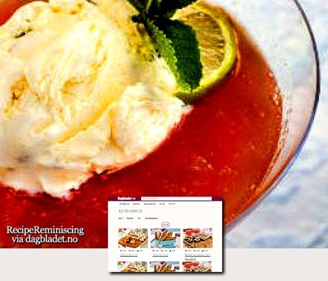 Rhubarb Compote with Homemade Ice Cream / Rabarbrakompott med Hjemmelaget Iskrem