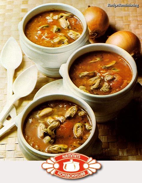 Tomatsuppe med Blåskjell og Ris